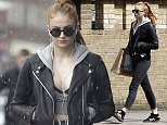 EXCLUSIVE COVERAGE:\\n\\nDATE: 26.04.2016\\n\\n'GOT' Actress Sophie Turner is pictured out in London battling her on storm as London is hit with a snowstorm. \\n\\nSophie is seen wearing a small crop top and leather jacket as the unexpected snowstorm hit London today.