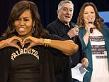 (Michelle Obama) ON SPEC First Lady Michelle Obama was joined by a host of Celebrities at the 2016 College Signing Day Event inside the Harlem Armory, 40 West 143rd Street in Manhattan on Tuesday April 26, 2016. 1500. (Theodore Parisienne)