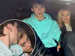 BROOKLYN BECKHAM AND CHLOE MORETZ SEEN LEAVING A LONDON HOTEL TOGETHER. BROOKLYN AND CHLOE WHERE SEEN LOOKING COSY IN THE BACK OF THEIR CHAFFAUR DRIVEN CAR. MONDAY 25TH APRIL 2016 - MAGICMOMENTSUK - 07753 30 30 77