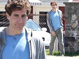 Picture Shows: Jake Gyllenhaal  April 27, 2016\n \n Jake Gyllenhaal was seen filming outside of a bar for the Boston marathon movie 'Stronger', in Easton, Massachusetts. Jake has recently stated that he believes Donald Trump 'could be dangerous' if voted into power. \n \n Non-Exclusive\n UK RIGHTS ONLY\n \n Pictures by : FameFlynet UK � 2016\n Tel : +44 (0)20 3551 5049\n Email : info@fameflynet.uk.com