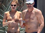 Exclusive... 52033022 Couple LeAnn Rimes and Eddie Cibrian are seen relaxing poolside and hanging out on the beach with friends in Cabo San Lucas, Mexico on April 24, 2016. The pair are celebrating their 5 year anniversary. FameFlynet, Inc - Beverly Hills, CA, USA - +1 (310) 505-9876