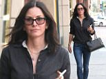 eURN: AD*204229952  Headline: Courteney Cox keeps it simple in her signature style out in the 90210 Caption: Beverly Hills, CA - Courteney Cox is seen out and about in the 90210 running errands. The 51-year-old actress is wearing skinny jeans and a button up paired with loafers. Courtney texts on her phone as she walks down the sidewalk.    AKM-GSI       April 26, 2016 To License These Photos, Please Contact : Steve Ginsburg (310) 505-8447 (323) 423-9397 steve@akmgsi.com sales@akmgsi.com or Maria Buda (917) 242-1505 mbuda@akmgsi.com ginsburgspalyinc@gmail.com Photographer: MULL  Loaded on 26/04/2016 at 23:50 Copyright:  Provider: Phoenix/AKM-GSI  Properties: RGB JPEG Image (23207K 2236K 10.4:1) 2298w x 3447h at 300 x 300 dpi  Routing: DM News : GeneralFeed (Miscellaneous) DM Showbiz : SHOWBIZ (Miscellaneous) DM Online : Online Previews (Miscellaneous), CMS Out (Miscellaneous)  Parking: