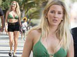Ellie Goulding shows off her bikini body taking a stroll around Miami, Florida, after a boat trip. Taking a well earned break between gigs and soaking up the sun on a Wednesday afternoon.  Pictured: Ellie Goulding. Ref: SPL1270370  270416   Picture by: Splash News  Splash News and Pictures Los Angeles: 310-821-2666 New York: 212-619-2666 London: 870-934-2666 photodesk@splashnews.com