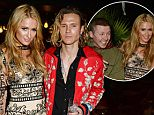 LONDON, ENGLAND - APRIL 27:  Paris Hilton (L) and Dougie Poynter attend the launch of Restaurant Ours in Kensington on April 27, 2016 in London, England.  (Photo by David M. Benett/Dave Benett/Getty Images)