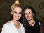 Mandatory Credit: Photo by Buckner/WWD/REX/Shutterstock (5661943ai) January Jones and Demi Moore Roger Vivier Dinner and Cocktails, Los Angeles, America - 26 Apr 2016