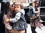 Picture Shows: Camila Alves, Livingston McConaughey  April 27, 2016\n \n Actress and proud mom Camila Alves and her son Livingston are spotted out and about in New York City, New York.\n \n Livingston was sporting a small temporary tattoo on his forehead during the outing.\n \n UK RIGHTS ONLYPictures by : FameFlynet UK � 2016\n Tel : +44 (0)20 3551 5049\n Email : info@fameflynet.uk.com