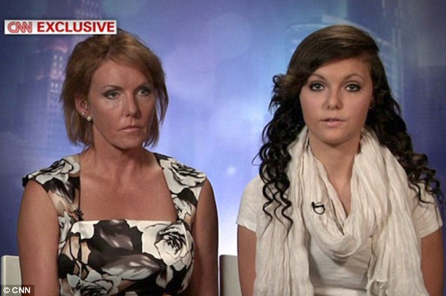 United front: Melinda and Daisy Coleman appeared together on CNN to speak of their ongoing ordeal and hopes for the future