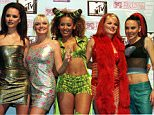 SPICE GIRLS POSE DURING PHOTO CALL AT MTV MUSIC AWARDS IN ROTTERDAM...ROT06:MTV-DUTCH:ROTTERDAM,NETHERLANDS,6NOV97 - British Spice Girls pop group (L-R) Victoria, Emma, Mel B, Geri and Mel C pose for photographers during a photocall at the MTV European Music Awards in Rotterdam, November 6. The Spice Girls won the Best Group award. jj/Photo by Jerry Lampen REUTERS...I...DIP