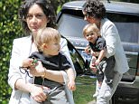 Picture Shows: Rhodes Perry, Sara Gilbert  April 27, 2016\n \n Actress Sara Gilbert and her son Rhodes stop by a friends house in Beverly Hills, California. Rhodes was all smiles as they made their way to the car.\n \n Non-Exclusive\n UK RIGHTS ONLY\n \n Pictures by : FameFlynet UK © 2016\n Tel : +44 (0)20 3551 5049\n Email : info@fameflynet.uk.com