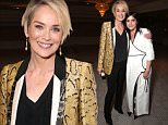 """WEST HOLLYWOOD, CA - APRIL 28:  Actresses Sharon Stone (L) and Selma Blair attend the Los Angeles Premiere of Screen Media Film's """"Mothers And Daughters"""" at The London on April 28, 2016 in West Hollywood, California.  (Photo by Todd Williamson/Getty Images)"""