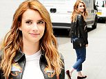 Emma Roberts is all smiles looking stylish as she leaves her hotel in NYC. She wore a leather bomber with floral designs and blue denim jeans.\n\nPictured: Emma Roberts\nRef: SPL1272178  290416  \nPicture by: Splash News\n\nSplash News and Pictures\nLos Angeles: 310-821-2666\nNew York: 212-619-2666\nLondon: 870-934-2666\nphotodesk@splashnews.com\n