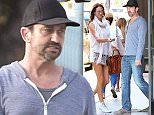 Actor Gerard Butler is seen shopping  with his girlfriend at a furniture store in West Hollywood.  Pictured: Gerard Butler Ref: SPL1272162  280416   Picture by: nich503 / Splash News  Splash News and Pictures Los Angeles: 310-821-2666 New York: 212-619-2666 London: 870-934-2666 photodesk@splashnews.com