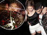 Gigi Hadid is carried from her star-studded 21st birthday party by boyfriend Zayn Malik at The Nice Guy in West Hollywood. April 28, 2016 X17online.com
