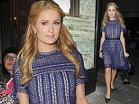 Picture Shows: Paris Hilton  April 28, 2016\n \n Paris Hilton seen arriving at Sexy Fish restaurant during a night out in Mayfair, London, UK. Newly-single Paris was looking chic in a demure blue dress paired with black heels and a black handbag.\n \n Non Exclusive\n WORLDWIDE RIGHTS\n \n Pictures by : FameFlynet UK © 2016\n Tel : +44 (0)20 3551 5049\n Email : info@fameflynet.uk.com