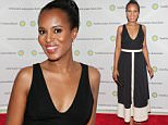 """WASHINGTON, DC - APRIL 28:  Actress Kerry Washington attends the Smithsonian Associates's """"Scandal-ous!"""" discussion with the cast and executive producers of ABC's """"Scandal"""" at the University of District of Columbia Theater of the Arts on April 28, 2016 in Washington, DC.  (Photo by Paul Morigi/WireImage)"""