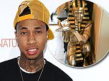 """HOLLYWOOD, CALIFORNIA - APRIL 06:  Actor/rapper Tyga attends the premiere of """"Barbershop: The Next Cut"""" at TCL Chinese Theatre on April 6, 2016 in Hollywood, California.  (Photo by Jason LaVeris/FilmMagic)"""