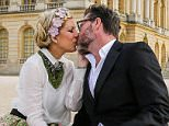 EXCLUSIVE TO INF. April 14, 2016: Tori Spelling and Dean McDermott along with their four kids, taking some beautiful photographs at the Palace of Versailles to celebrate their recent engagement/vow renewal proposal by Dean.  Spelling has been celebrating her 10th anniversary of marriage all over Paris.  For the photos, the family borrowed their outfits, jewelry and all the jeweled headbands from a French designer couture boutique called LES SUITES. Their wedding is scheduled for late next month. Mandatory Credit: INF/Startraks Ref: infusny-176/Michael Simon