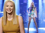 LATE NIGHT WITH SETH MEYERS -- Episode 361 -- Pictured: Musical guest Iggy Azalea performs on April 28, 2016 -- (Photo by: Lloyd Bishop/NBC/NBCU Photo Bank via Getty Images)