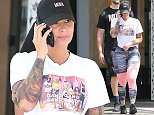 28.APR.2016 - HOLLYWOOD - USA *STRICTLY AVAILABLE FOR UK AND GERMANY USE ONLY* Amber Rose has plenty of friends! The model turned businesswoman made a trip to the Topanga Mall this afternoon with her entourage, driving her new shiny pink Jeep!¯   BYLINE MUST READ : AKM-GSI/XPOSUREPHOTOS.COM ***UK CLIENTS - PICTURES CONTAINING CHILDREN PLEASE PIXELATE FACE PRIOR TO PUBLICATION *** *UK CLIENTS MUST CALL PRIOR TO TV OR ONLINE USAGE PLEASE TELEPHONE 0208 344 2007*