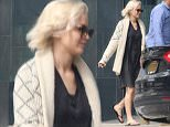 *EXCLUSIVE* New York, NY - A blonde looking Jennifer Lawrence, along with her bodyguard, arrived at an office building in the Financial District this afternoon. She wore a simple dark spring dress with a cream patterned cardigan on top and flip-flops.\nAKM-GSI          April 28, 2016\nTo License These Photos, Please Contact :\nSteve Ginsburg\n(310) 505-8447\n(323) 423-9397\nsteve@akmgsi.com\nsales@akmgsi.com\nor\nMaria Buda\n(917) 242-1505\nmbuda@akmgsi.com\nginsburgspalyinc@gmail.com