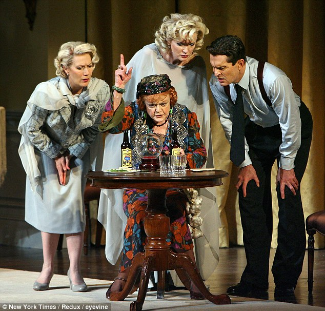 In the spirit: Angela Lansbury pictured as Madame Arcati in Noel Coward's 'Blithe Spirit' at the Shubert Theater in New York in 2009
