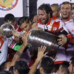 River Plate celebrate winning the Copa Libertadores