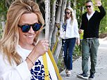 *EXCLUSIVE* Beverly Hills, CA - Actress, Reese Witherspoon, appears to be sporting a baby bump as she was seen going to a friends house with her husband, Jim Toth.  The 'Legally Blonde' actress appeared to be in a fantastic mood as she exited their friends house with her hubby.  She gave a slight glimpse of her 'baby bump' as she stood profile.  She was dressed in a loose cropped jacket, graphic tee, blue jeans, and platform sandals.\nAKM-GSI            May 1, 2016\nTo License These Photos, Please Contact :\nSteve Ginsburg\n(310) 505-8447\n(323) 423-9397\nsteve@akmgsi.com\nsales@akmgsi.com\nor\nMaria Buda\n(917) 242-1505\nmbuda@akmgsi.com\nginsburgspalyinc@gmail.com