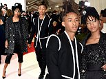 """NEW YORK, NY - MAY 02:  Jaden Smith (L) and Willow Smith attend the """"Manus x Machina: Fashion In An Age Of Technology"""" Costume Institute Gala at Metropolitan Museum of Art on May 2, 2016 in New York City.  (Photo by Jamie McCarthy/FilmMagic)"""