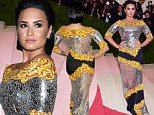 """May 2, 2016 New York City, CA\nDemi Lovato\nMET Gala 2016 \nCostume Institute Benefit at The Met Celebrates opening of """"Manus x Machina: Fashion in an Age of Technology"""" Exhibition\nheld at the Metropolitan Museum of Art\n©Arroyo-OConnor/AFF-USA.com"""