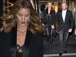 NEW YORK, NY - MAY 01:  Model Rosie Huntington-Whiteley (L) and actor Jason Statham are seen in the Upper East Side  on May 1, 2016 in New York City.  (Photo by Michael Stewart/GC Images)