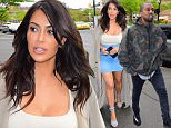 EXCLUSIVE: Kim Kardashian Looked Slimmer than ever as she stepped out in NYC on Sunday afternoon, with Hubby, Kanye West. Kim looked stunning in A Denim Pencil Skirt, Cream top and a Tan duster coat. The tight figure hugging outfit accentuated her curves, and 70 Lbs weight loss. Kanye seemed to love it, as he made a cheeky grab, while they walked in the door.\n\nPictured: Kim Kardashian\nRef: SPL1273482  010516   EXCLUSIVE\nPicture by: 247PAPS.TV / Splash News\n\nSplash News and Pictures\nLos Angeles: 310-821-2666\nNew York: 212-619-2666\nLondon: 870-934-2666\nphotodesk@splashnews.com\n