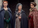 Programme Name: The Hollow Crown: The Wars Of The Roses - TX: n/a - Episode: The Hollow Crown: The Wars Of The Roses (No. Richard III) - Picture Shows:  Elizabeth (KEELEY HAWES), Cecily (JUDI DENCH), Anne (PHOEBE FOX) - (C) Carnival Film & Television Ltd - Photographer: Robert Viglasky