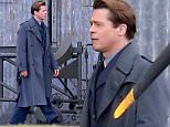 """Picture Shows: Brad Pitt  April 27, 2016\n \n * Min Web / Online Fee £250 For Set *\n \n \n Extra's are lined up during a pause in production while an extra is chosen as a last minute look-a-like is required for filming on the set of 'Allied' in the Oxfordshire countryside in England, UK. \n \n Actor Brad Pitt can be seen strolling across the set while the extra is being chosen. \n \n """"Allied"""" is an upcoming romantic thriller film based on the true story about two assassins who fall in love during a mission to kill a German official. \n \n * Min Web / Online Fee £250 For Set *\n \n Exclusive All Rounder\n WORLDWIDE RIGHTS\n Pictures by : FameFlynet UK © 2016\n Tel : +44 (0)20 3551 5049\n Email : info@fameflynet.uk.com"""