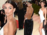 """NEW YORK, NY - MAY 02:  Emily Ratajkowski attends """"Manus x Machina: Fashion In An Age Of Technology"""" Costume Institute Gala at Metropolitan Museum of Art on May 2, 2016 in New York City.  (Photo by Kevin Mazur/WireImage)"""