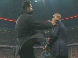 EROTEME.CO.UK If bylined must credit BT SPORT Bayern Munich v Athletico Madrid Diego Simeone lashes out at official who did not make substitution when ball was out. Simeone puts his hand on official. NON-EXCLUSIVE: Tuesday 3rd May 2016 Job: 160503UT10 EROTEME.CO.UK 44 207 431 1598 Disclaimer note of Eroteme Ltd: Eroteme Ltd does not claim copyright for this image. This image is merely a supply image and payment will be on supply/usage fee only.