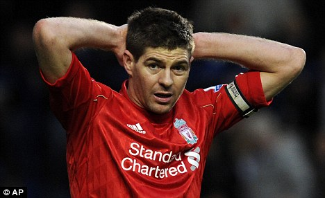 Ruled out: Gerrard remains sidelined with a groin strain