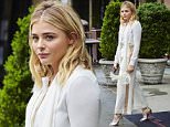 EXCLUSIVE: Chloe Moretz spotted wearing a white wide leg suit with leg stripe while departing her hotel in NYC\n\nPictured: Chloe Moretz\nRef: SPL1274138  030516   EXCLUSIVE\nPicture by: J. Webber / Splash News\n\nSplash News and Pictures\nLos Angeles: 310-821-2666\nNew York: 212-619-2666\nLondon: 870-934-2666\nphotodesk@splashnews.com\n