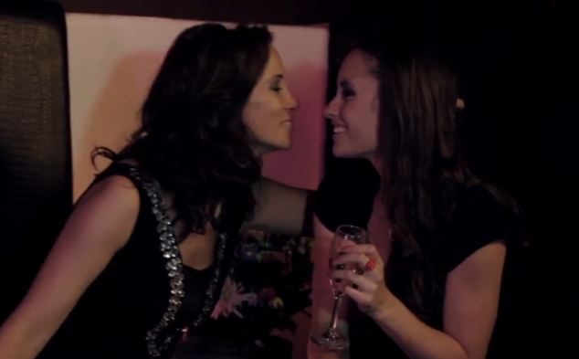 Loose Women presenter Andrea McLean (left) was one of the A-listers roped into starring in the fake thriller (pictured in a fake promotional video as a bisexual therapist)