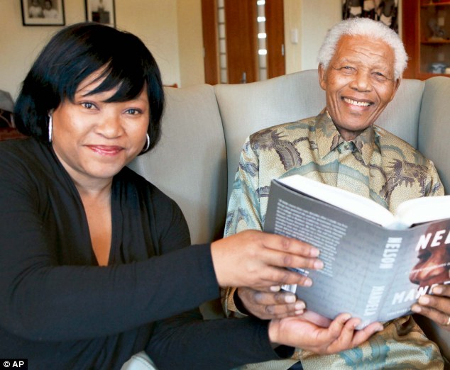 Family ties: Zoleka is the daughter of Nelson Mandela's second child Zindzi, portrayed with the statesman in 2011