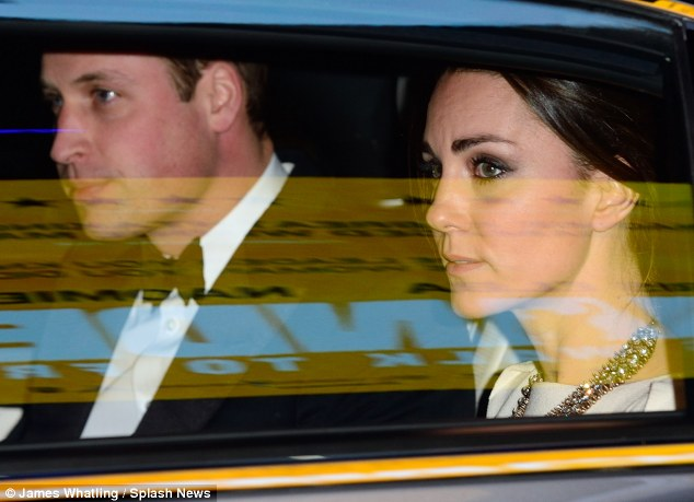 Tears: The Duke and Duchess of Cambridge were visibly upset when they left the premiere of Mandela: A Long Walk To Freedom