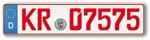 Rotes Nummernschild für Oldtimer