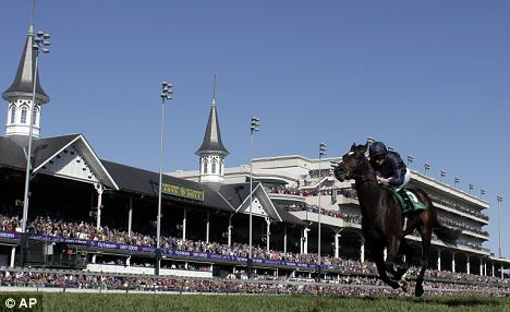 Off and running: Ryan Moore rides Wrote to victory in the Juvenile Turf
