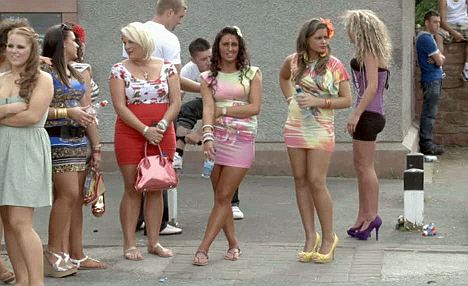 Scantily clad: Gypsy girls have been shown in revealing outfits, in contrast to the community's strict moral codes