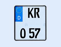 Kfz-Kennzeichen: Selbstleuchtendes Motorradkennzeichen