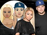Inglewood, CA - Blac Chyna and friends enjoyed a night at Rihanna's Anti world tour stop at The Forum. Rob Kardashian's fiancee showed off her unbelievable assets in a candy apple red moto jacket over a sheer black blouse and skintight black and white striped pants. Blac Chyna appeared to be in good spirits, despite her sizable burglary over the weekend.\nAKM-GSI         May 3, 2016\nTo License These Photos, Please Contact :\nSteve Ginsburg\n(310) 505-8447\n(323) 423-9397\nsteve@akmgsi.com\nsales@akmgsi.com\nor\nMaria Buda\n(917) 242-1505\nmbuda@akmgsi.com\nginsburgspalyinc@gmail.com
