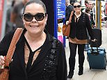 6 May 2016 - Manchester - UK  Lisa Riley seen arriving back into Manchester Piccadilly train station pulling her suitcase looking good after her recent weight loss. BYLINE MUST READ : XPOSUREPHOTOS.COM  ***UK CLIENTS - PICTURES CONTAINING CHILDREN PLEASE PIXELATE FACE PRIOR TO PUBLICATION ***  **UK CLIENTS MUST CALL PRIOR TO TV OR ONLINE USAGE PLEASE TELEPHONE   44 208 344 2007 **