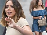 LOS ANGELES, CA - MAY 05: Chloe Bennet is seen at 'Jimmy Kimmel Live' on May 05, 2016 in Los Angeles, California.  (Photo by RB/Bauer-Griffin/GC Images)