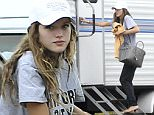 May 5, 2016: Bella Thorne is seen arriving barefoot on the set of her new film 'You Get Me' in Los Angeles, California.\nMandatory Credit: Fresh/INFphoto.com Ref: infusla-284