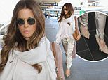 Los Angeles, CA - Kate Beckinsale slips out of town in silk pants and a large scarf with heels, on Friday evening with her bodyguard close behind.\n \n AKM-GSI   May  6, 2016\nTo License These Photos, Please Contact :\nSteve Ginsburg\n(310) 505-8447\n(323) 423-9397\nsteve@akmgsi.com\nsales@akmgsi.com\nor\nMaria Buda\n(917) 242-1505\nmbuda@akmgsi.com\nginsburgspalyinc@gmail.com