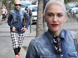 *EXCLUSIVE* Studio City, CA - Gwen Stefani shows off her unique wardrobe after visiting the nail salon. The gorgeous singer looks great with her hair done in 3 buns, a denim button up, plaid shorts, black high socks, orange wedged sneakers, and a plaid purse.\nAKM-GSI        May  6, 2016\nTo License These Photos, Please Contact :\nSteve Ginsburg\n(310) 505-8447\n(323) 423-9397\nsteve@akmgsi.com\nsales@akmgsi.com\nor\nMaria Buda\n(917) 242-1505\nmbuda@akmgsi.com\nginsburgspalyinc@gmail.com